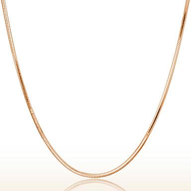 billige Perler og smykkemaking-Dame Kjedehalskjeder Gullbelagt damer Gylden Halskjeder Smykker Til Bryllup Fest Daglig Avslappet