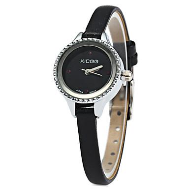 Mulheres Relógio de Moda Quartzo Venda imperdível Couro Banda Amuleto Preta Branco Vermelho