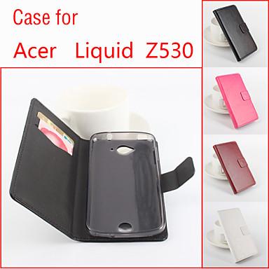 Capinha Para Acer Capinhas Acer Porta-Cartão Com Suporte Flip Magnética Capa Proteção Completa Côr Sólida Rígida PU Leather para