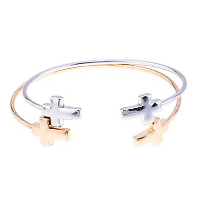 Heren Cuff armbanden Uniek ontwerp Open Modieus Verstelbaar Verzilverd Verguld Gouden Kruis Anderen Sieraden Kerstcadeaus Feest Dagelijks
