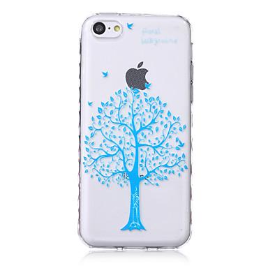 boompatroon golven slip handvat TPU zachte telefoon Case voor iPhone 5c