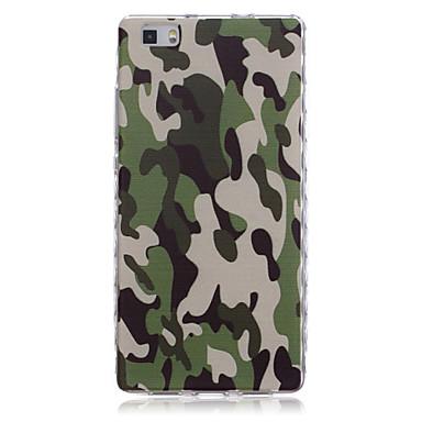 Voor Huawei hoesje / P8 / P8 Lite Schokbestendig hoesje Achterkantje hoesje Camouflage Kleur Zacht TPU Huawei Huawei P8 / Huawei P8 Lite