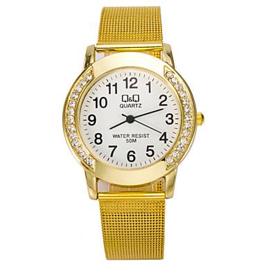 Dames Modieus horloge Gesimuleerd Diamant Horloge Kwarts imitatie Diamond Legering Band Zilver Goud