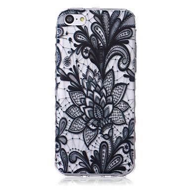 bloempatroon golven slip handvat TPU soft phone case voor de iPhone 5 quater