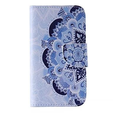 hoesje Voor Samsung Galaxy Samsung Galaxy hoesje Kaarthouder Portemonnee met standaard Flip Patroon Volledig hoesje Bloem PU-nahka voor