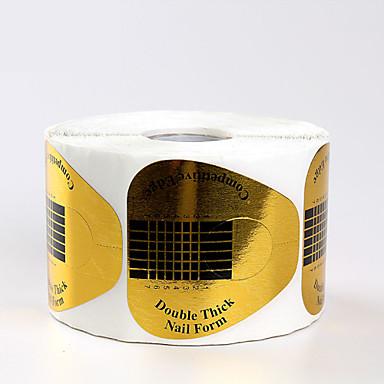 500pcs douradas ferramentas formulários da arte do prego de acrílico&dicas de gel uv