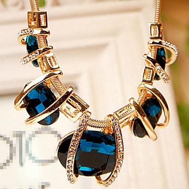 Feminino Luxo Fashion Colar de Fios Cristal Cristal Strass Imitações de Diamante Liga Colar de Fios , Festa Diário