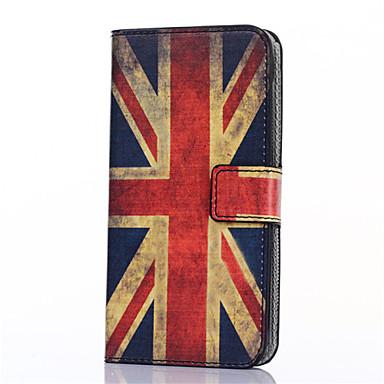 hoesje Voor Samsung Galaxy Samsung Galaxy hoesje Kaarthouder Portemonnee met standaard Flip Patroon Volledig hoesje Vlag PU-nahka voor On