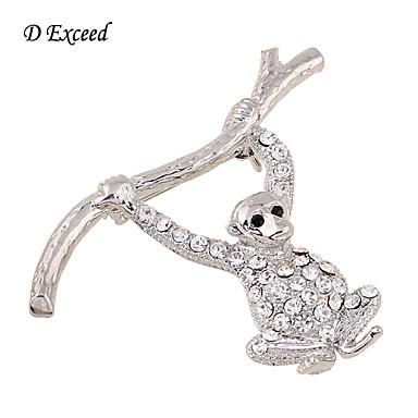 Dames Verzilverd Glas imitatie Diamond Legering Modieus Zilver Sieraden Bruiloft Feest Dagelijks Causaal