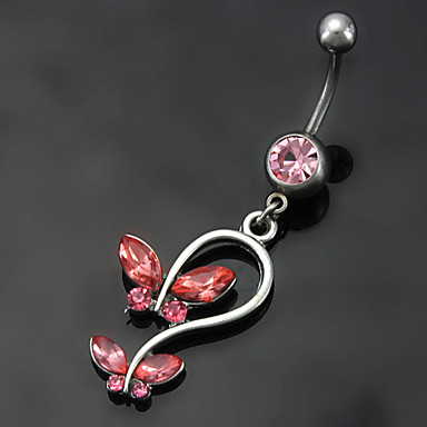 Dames Navelring / Navel Piercing Roestvast staal Modieus Lichaamssieraden Voor Dagelijks Causaal Kostuum juwelen