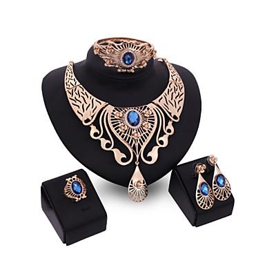 Pentru femei Cristal Set bijuterii - Include Rosu / Albastru / Maro deschis Pentru Nuntă / Petrecere / Inele / Coliere