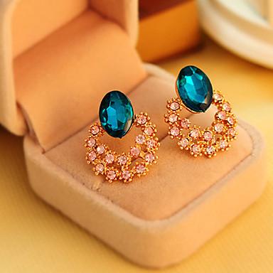 Dames Oorknopjes Kristal Legering Bloem Sieraden Bruiloft Feest Dagelijks Causaal Kostuum juwelen