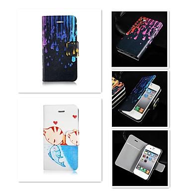 Voor iPhone 5 hoesje Hoesje cover Kaarthouder Flip Volledige behuizing hoesje Cartoon Hard PU-leer voor iPhone SE/5s iPhone 5