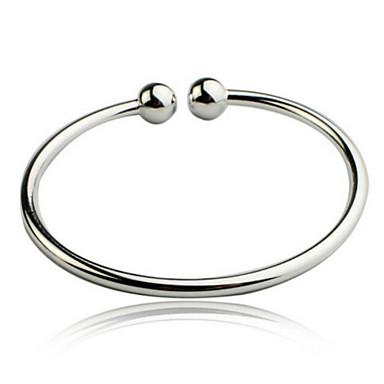 Femme Bracelets Rigides - Argent sterling Original, Mode Bracelet Argent Pour Regalos de Navidad / Mariage / Soirée