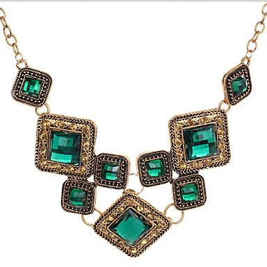 Dames Verklaring Kettingen Geometrische vorm Synthetische Edelstenen Legering Luxe Sieraden Sieraden Voor Feest