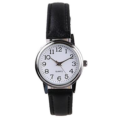 Mulheres Relógio de Moda Quartzo Impermeável PU Banda Brilhante Preta