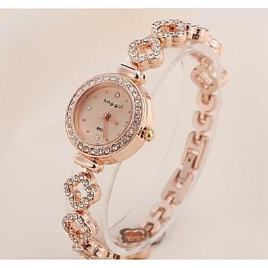 Dames Modieus horloge Armbandhorloge Vrijetijdshorloge Kwarts Roestvrij staal Band Elegant Goud Rose