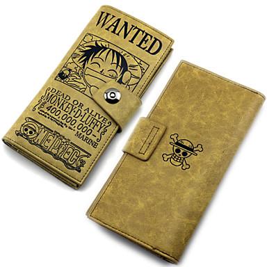Tas geinspireerd door One Piece Monkey D. Luffy Anime Cosplay Accessoires Tas / Meer Accessoires Bruin PU Leder Mannelijk