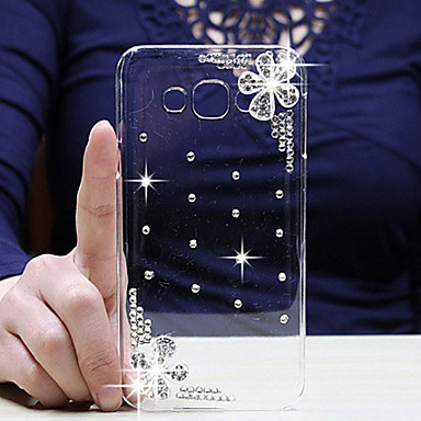 hoesje Voor Samsung Galaxy Samsung Galaxy hoesje Strass Transparant Achterkantje Bloem PC voor A8 A7 A5 A3