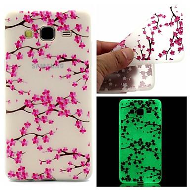 Para Samsung Galaxy Capinhas Brilha no Escuro / Estampada Capinha Capa Traseira Capinha Flor TPU Samsung On 7 / On 5