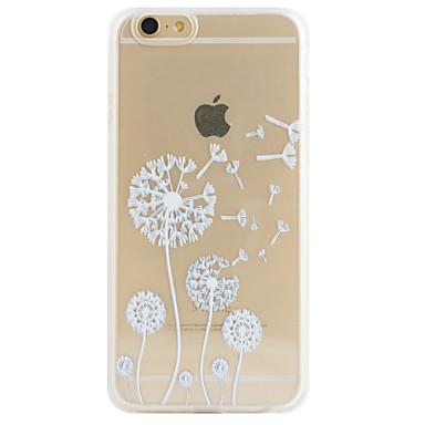 Capinha Para iPhone 5 Capinha iPhone 5 Transparente Estampada Com Relevo Capa traseira dandelion Macia TPU para iPhone SE / 5s iPhone 5