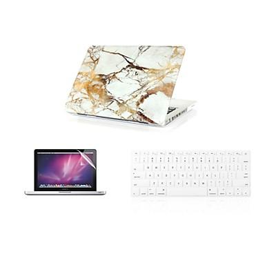 3 em 1 fashion caso da tampa de mármore + tampa do teclado + protetor de tela para o MacBook Air 11