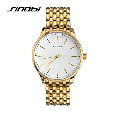 SINOBI Homens Relógio de Pulso Quartzo Impermeável Relógio Esportivo Rosa Folheado a Ouro Lega Banda Dourada
