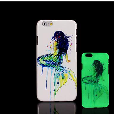 ariel padrão de brilho na tampa traseira de plástico duro escuro para iphone 6 para 6s iphone caso