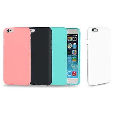 Capinha Para Apple iPhone 8 iPhone 8 Plus iPhone 6 iPhone 6 Plus iPhone 7 Plus Antichoque Capa traseira Côr Sólida Macia TPU para iPhone