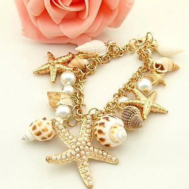 Dames Strand Armbanden Uniek ontwerp Modieus Kauri Schelp Legering Sieraden Gouden Sieraden Voor Feest Dagelijks Causaal 1 stuks