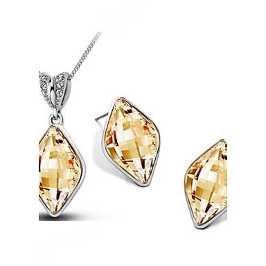 Dames Kristal Bruiloft Feest Dagelijks Causaal Oorbellen Kettingen Kostuum juwelen