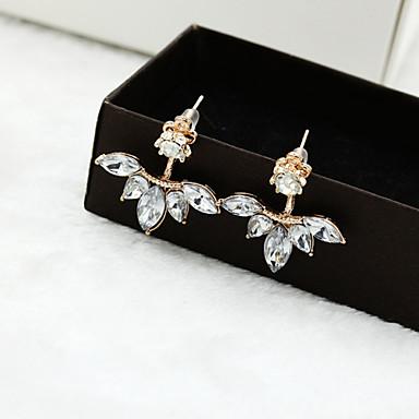 Dames Oorknopjes Kostuum juwelen Kristal Legering Bloemvorm Sieraden Voor Bruiloft Feest Dagelijks Causaal