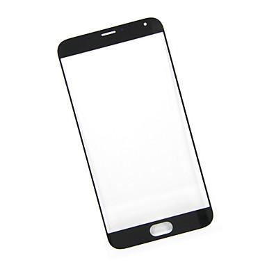 painel de toque de vidro exterior para reparação meizu substituição MX5 parte preto novo