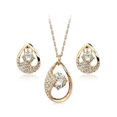Dames Kristal Imitatieparel Sieraden set Oorbellen Kettingen - Zilver Gouden Voor Bruiloft Feest Dagelijks Causaal