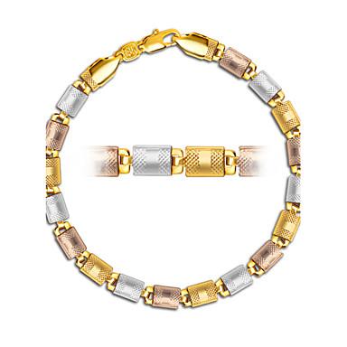 Homens Pulseiras em Correntes e Ligações - Prata Chapeada, Chapeado Dourado, Rosa Folheado a Ouro Dourado