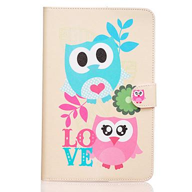 Para Samsung Galaxy Capinhas Case Tampa Carteira Porta-Cartão Com Suporte Flip Estampada Corpo Inteiro Capinha Corujas Couro Ecológico