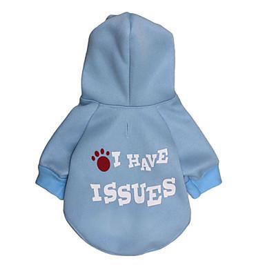 كلب هوديس ملابس الكلاب كاجوال/يومي حرف وعدد كوستيوم للحيوانات الأليفة