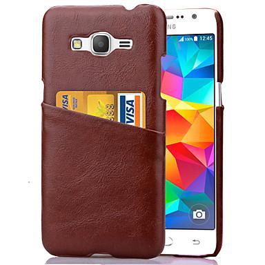Capinha Para Samsung Galaxy Samsung Galaxy Capinhas Porta-Cartão Capa traseira Côr Sólida PC para Grand Prime Core Prime