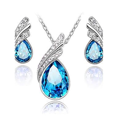 Mulheres Cristal Conjunto de jóias Brincos Colares - Para Casamento Festa Diário Casual