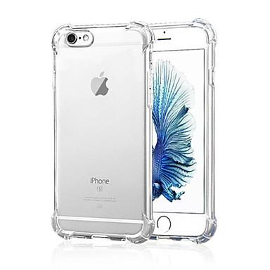 케이스 제품 Apple iPhone X iPhone 8 iPhone 6 iPhone 6 Plus iPhone 7 Plus iPhone 7 충격방지 투명 뒷면 커버 한 색상 소프트 실리콘 용 iPhone X iPhone 8 Plus iPhone 8