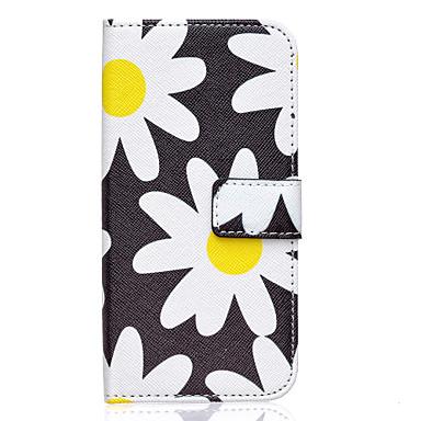 Para Samsung Galaxy Capinhas Case Tampa Carteira Porta-Cartão Com Suporte Flip Corpo Inteiro Capinha Flor Couro Ecológico para Samsung