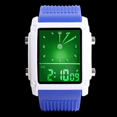 Mulheres Relogio digital Relógio Elegante Digital LED PU Banda Amuleto Preta Branco Azul Marrom Rosa