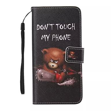 iphone 7 mais urso pintado caso de telefone pu para iPhone 6 / 6s