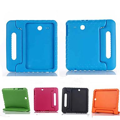 voordelige Samsung Tab-serie hoesjes / covers-hoesje Voor Samsung Galaxy Tab E 9.6 Schokbestendig / met standaard / Kindveilig Volledig hoesje Effen Siliconen