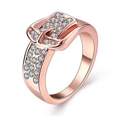 Feminino Maxi anel Pedras dos signos Zircão Chapeado Dourado Opala Jóias Casamento Festa Diário Casual