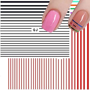 1 Nagelkunst sticker Abstract Bruiloft Punk make-up Cosmetische Nagelkunst ontwerp