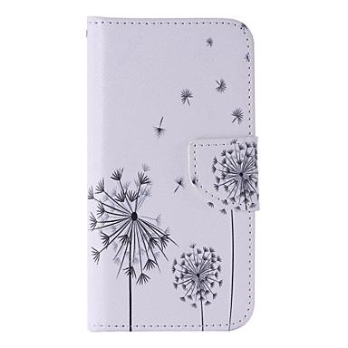 Para Samsung Galaxy S7 Edge Porta-Cartão / Carteira / Com Suporte / Flip Capinha Corpo Inteiro Capinha Dente de Leão Couro PU SamsungS7