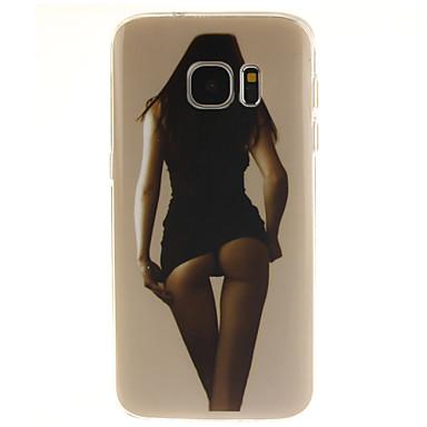 Voor Samsung Galaxy S7 Edge Patroon hoesje Achterkantje hoesje Sexy dame TPU Samsung S7 edge / S7 / S6 edge plus / S6 edge / S6