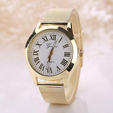 1aa6874b69c Geneva Homens   Mulheres Relógio de Pulso Relógio Casual Aço Inoxidável  Banda Boêmio   Fashion Prata