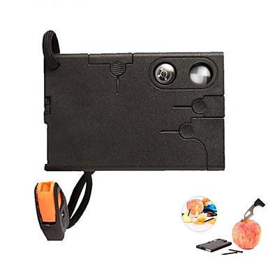 18 in1 multifuncional ferramenta knive exterior bolso de cartão de sobrevivência - preto